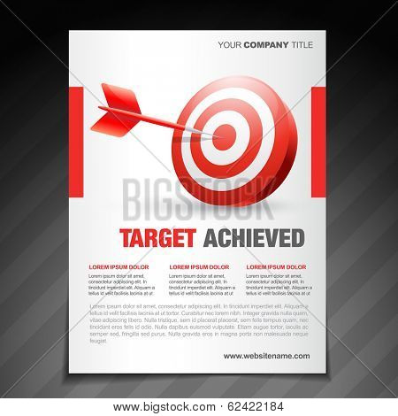 vector achievement  flyer poster template design