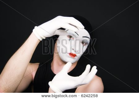 Mime In White Gloves