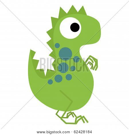 Vector Cartoon Cute And Colorful Group Of Dinosaurs