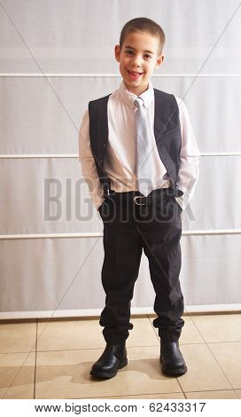 Six Year Old Boy Dressed Up