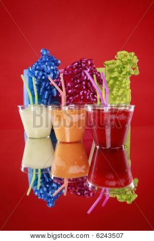 Colorful kid's party smoothie