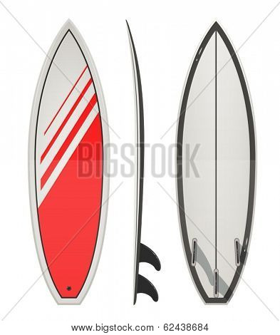 Surfing board. Eps10 vector illustration. Isolated on white background