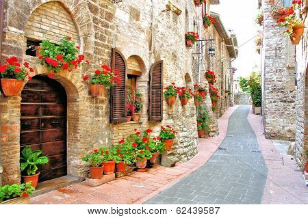 Flower filled Italian lane
