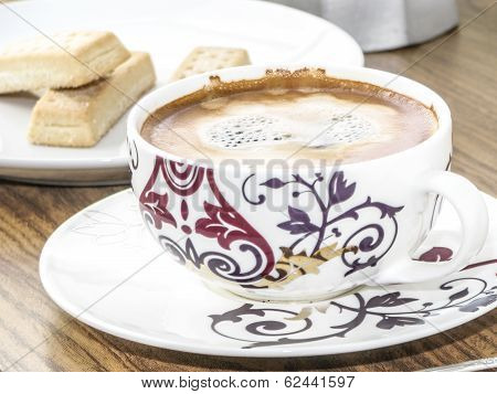 Coffee Cup And Biscuits
