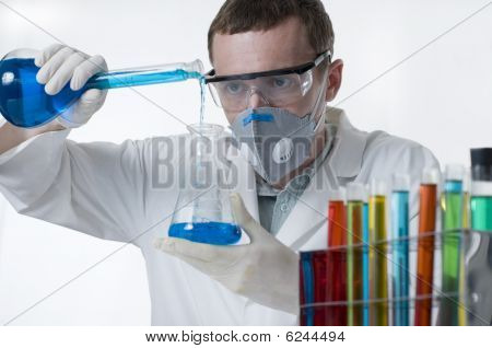 Scientist Conducting Research In Laboratory