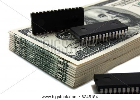 Computer Chips On Money