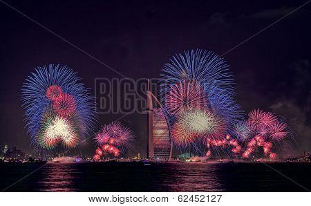 Burj Al Arab, Dubai fireworks