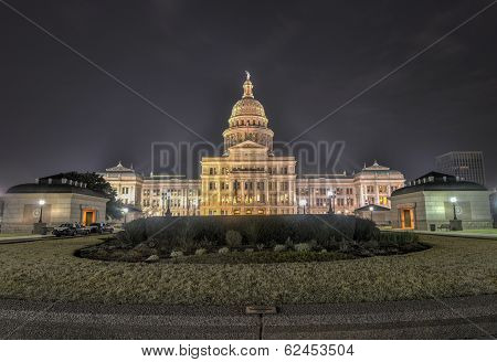 The Texas State Capitol Building Extension, Night