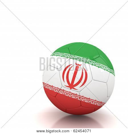 Iran Soccer Ball Isolated White Background