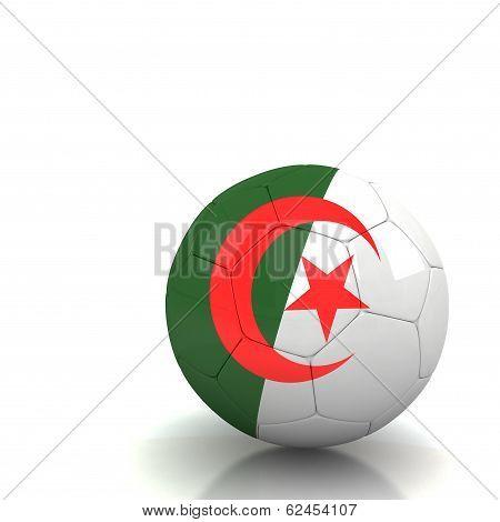 Algeria Soccer Ball Isolated White Background