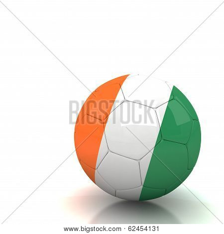 Cote_d_ivoire Soccer Ball Isolated White Background