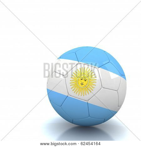 Argentina Soccer Ball Isolated White Background