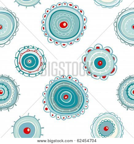Circles Doodles Abstract Pattern Background