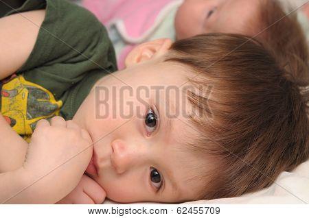 Resentful Boy Jealous Little Sister