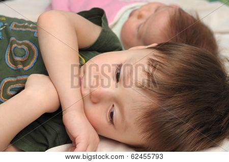 Resentful Boy Jealous Little Baby