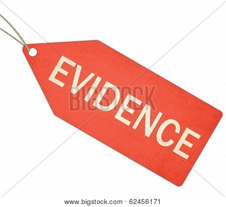 Evidence Red Tag And String
