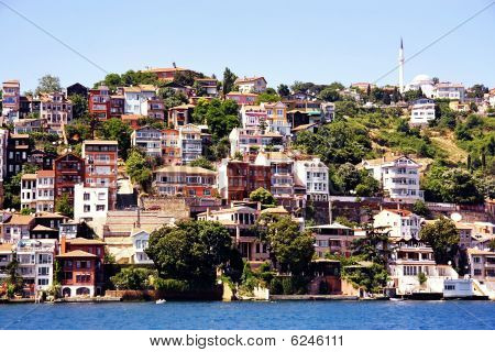 Buildings along Bosporus