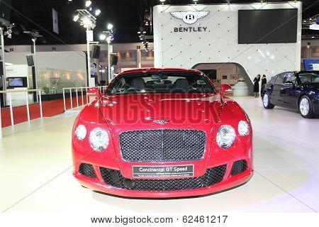 Nonthaburi - March 25: Bentley Continental Gt Speed Car On Display At The 35Th Bangkok International