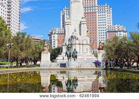 Monument to Cervantes Don Quixote and Sancho Panza