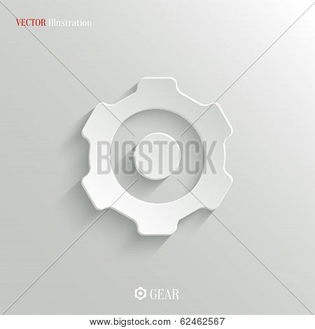 Gear Icon - Vector Web Background