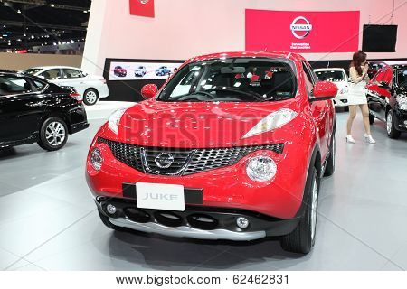 Nonthaburi - March 25: Nissan Juke Car On Display At The 35Th Bangkok International Motor Show On Ma