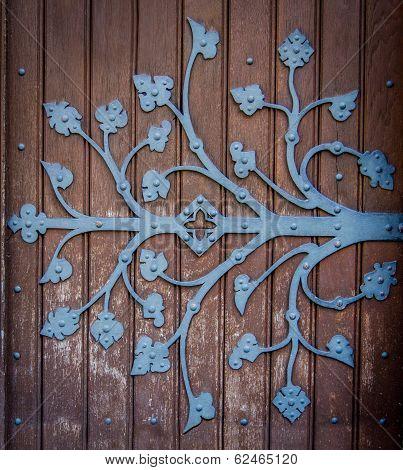 Ornate Church Door Hinge