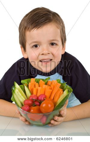 Healthy Boy With Vegetables