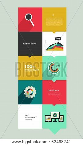 Modern flat box diagram for infographics. Vector module chart. Simply editable template.