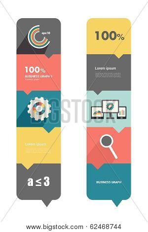 Modern flat box diagram for infographics. Vector module chart.