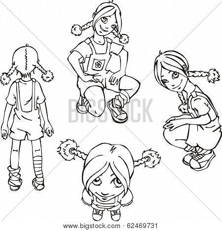 Set Of Naughty Girls