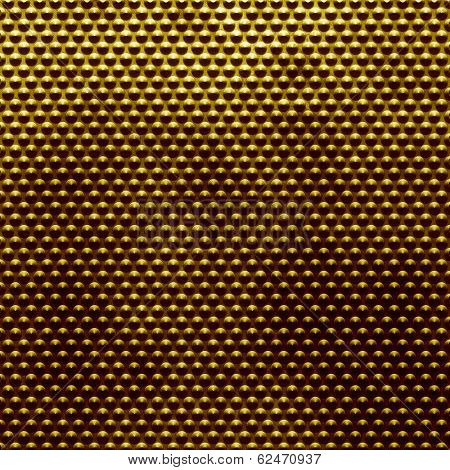 Golden polished metal doted background