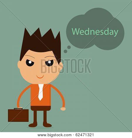 Businessman With Wednesday