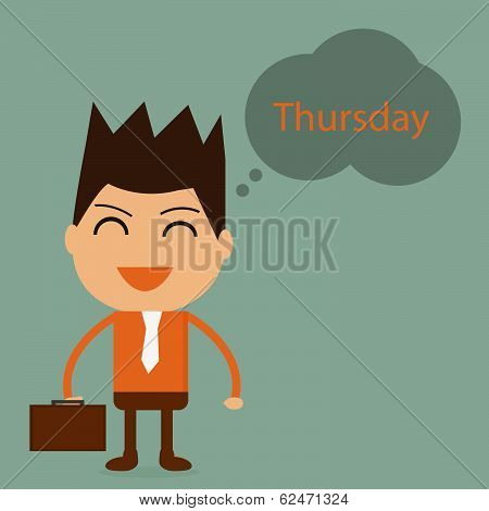 Businessman With Thursday