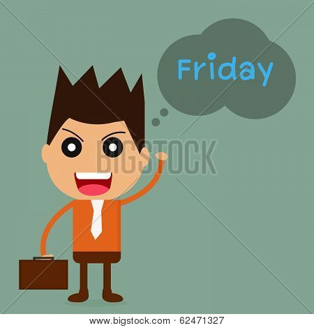 Businessman With Friday