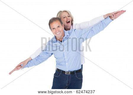 Portrait Of Mature Couple Having Fun