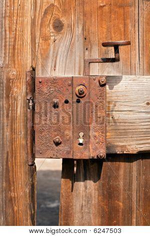 alte verrostete Türschloss