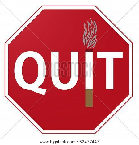 Quit Smoking Sign