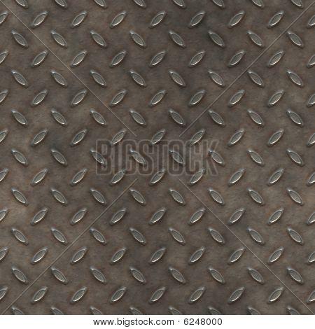 Aged Diamond Plate Seamless Texture