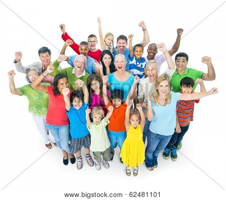 Large Group of Multi-Ethnic Diverse People