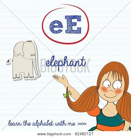 Alphabet Worksheet Of The Letter E