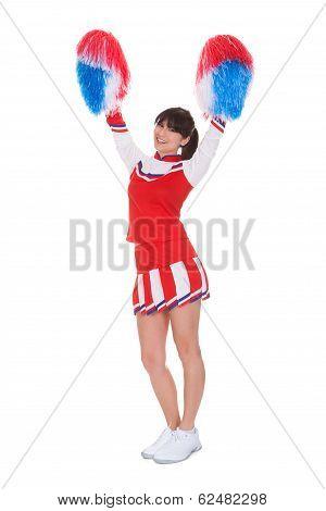 Cheerleader Holding Pom-pom