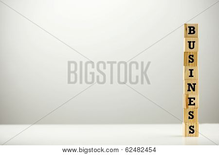 The Word - Business - On Stacked Wooden Cubes