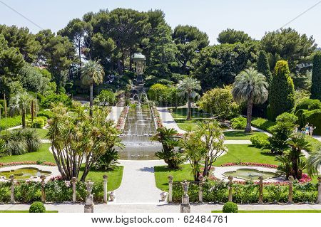 Green Gardens Of Villa Ephrussi De Rothschild
