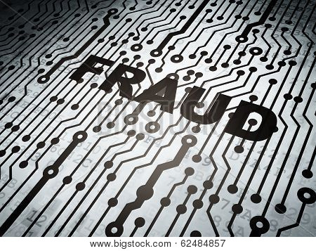 Protection concept: circuit board with Fraud