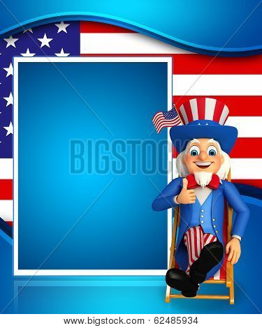 uncle sam sitting on the chair