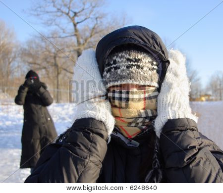 Woman Freezing Cold
