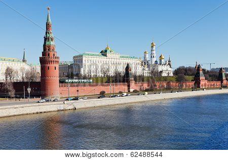 Kremlin, Embankment, Moskva River In Moscow