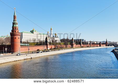 Moscow Cityscape With Kremlin