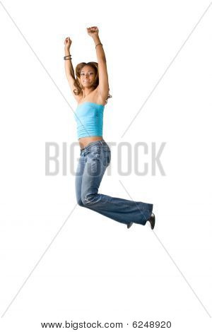 Fun Woman Jumping