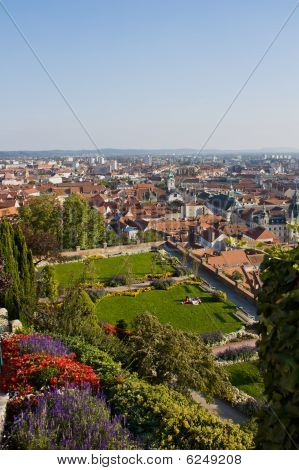 View From Clocktower To Graz